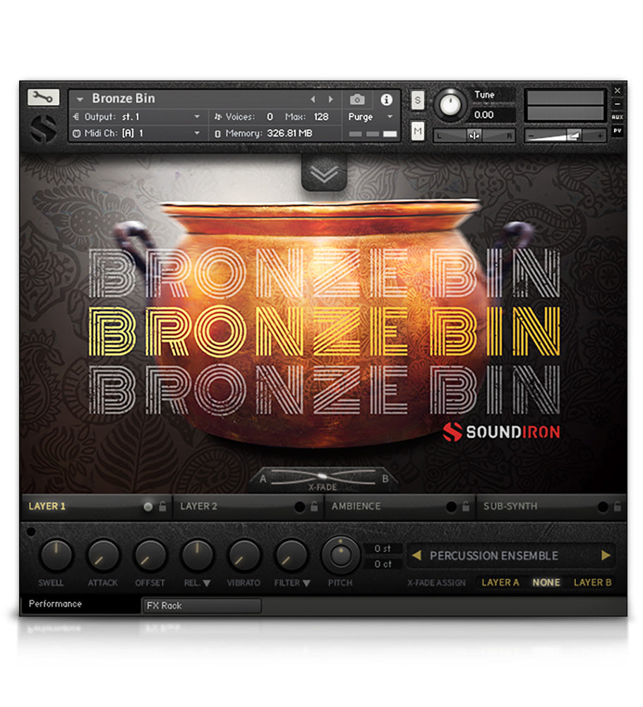 Bronze Bin - Metal - virtual instrument sample library for Kontakt by Soundiron