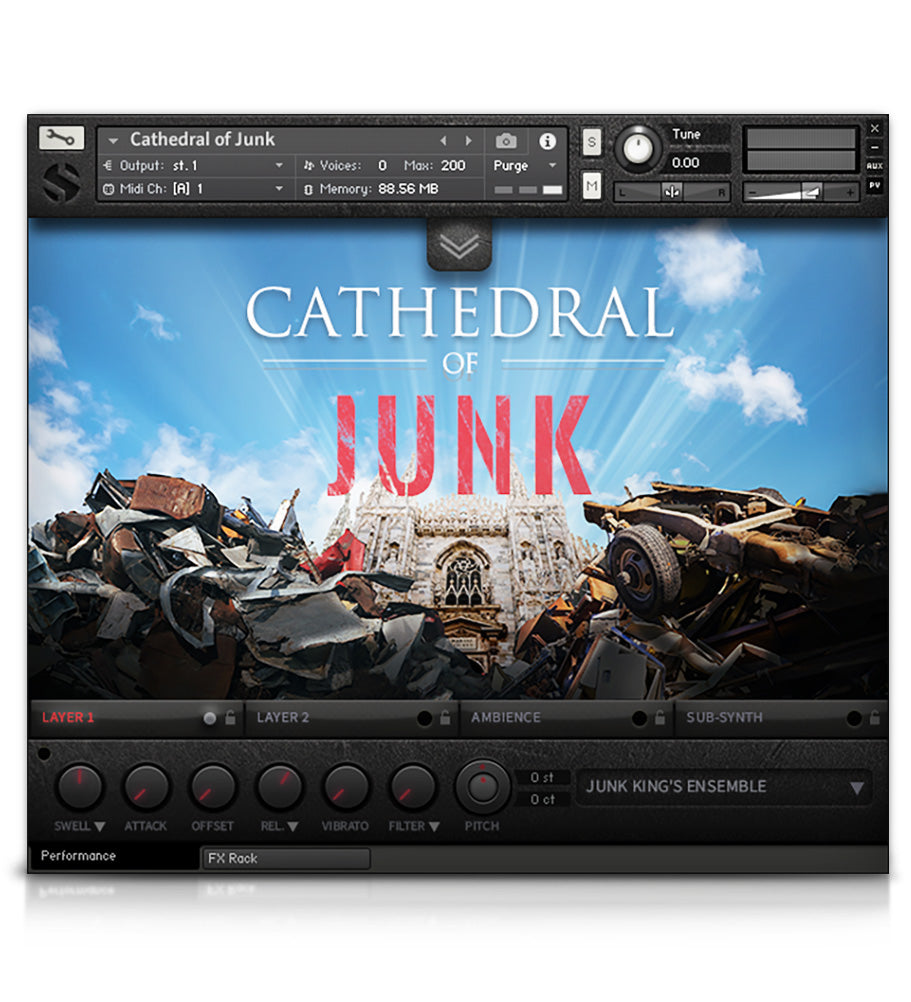 Cathedral of Junk - Percussion - virtual instrument sample library for Kontakt by Soundiron