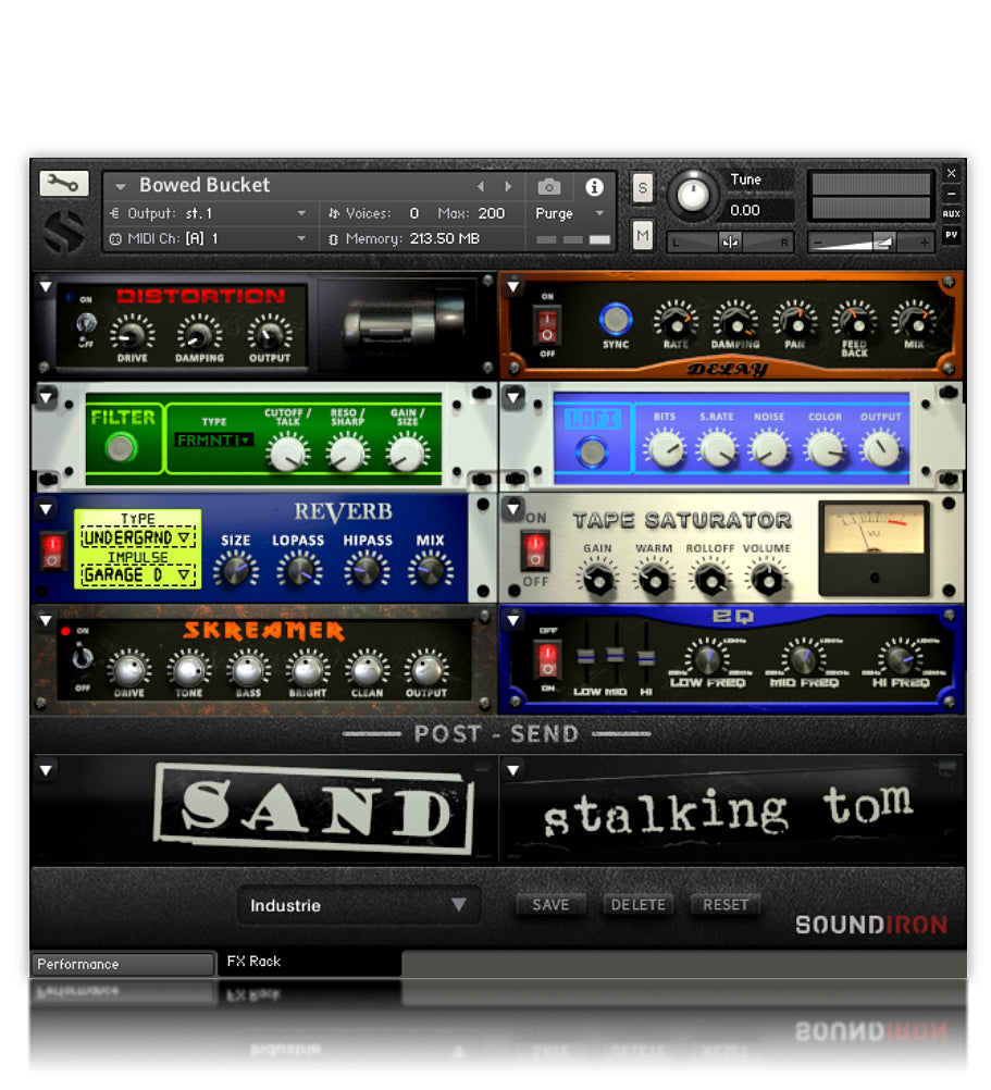 Bowed Bucket - Strings - virtual instrument sample library for Kontakt by Soundiron