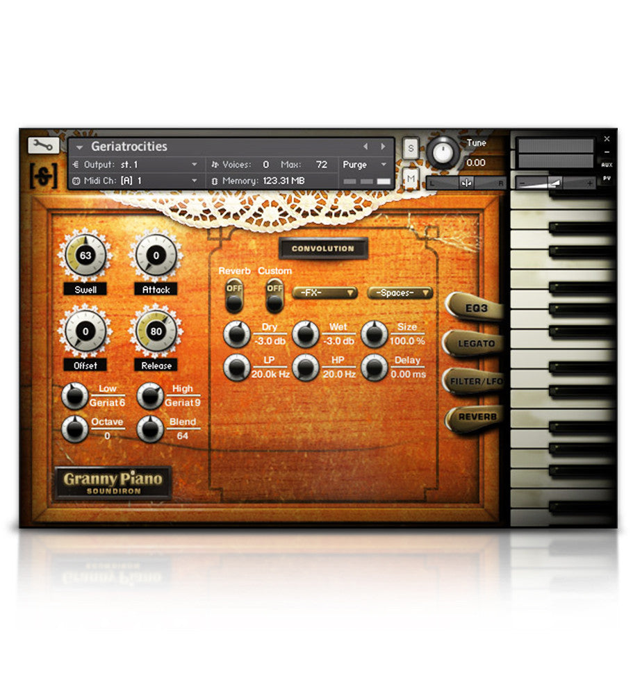 Old Busted Granny Piano - Pianos and Organs - virtual instrument sample library by Soundiron
