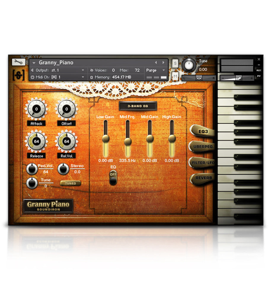 Old Busted Granny Piano - Pianos and Organs - virtual instrument sample library for Kontakt by Soundiron