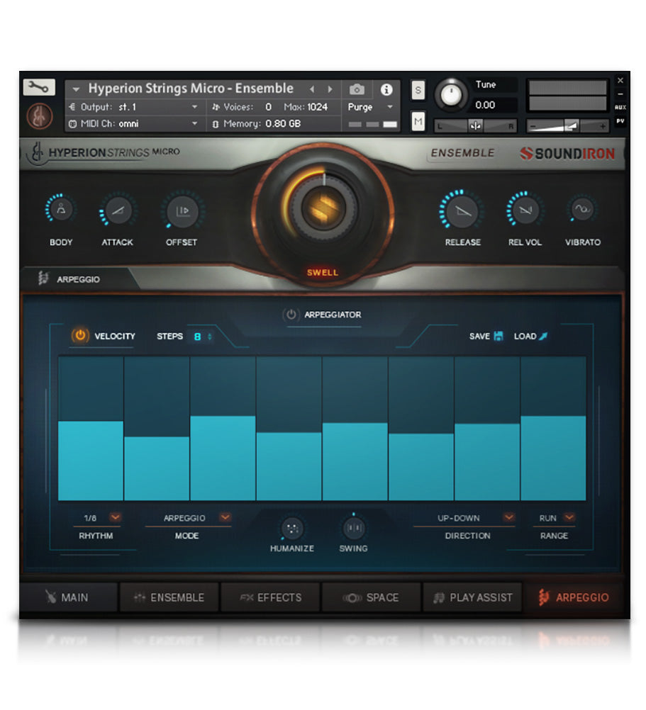 Hyperion Strings Micro - Strings - virtual instrument sample library for Kontakt by Soundiron
