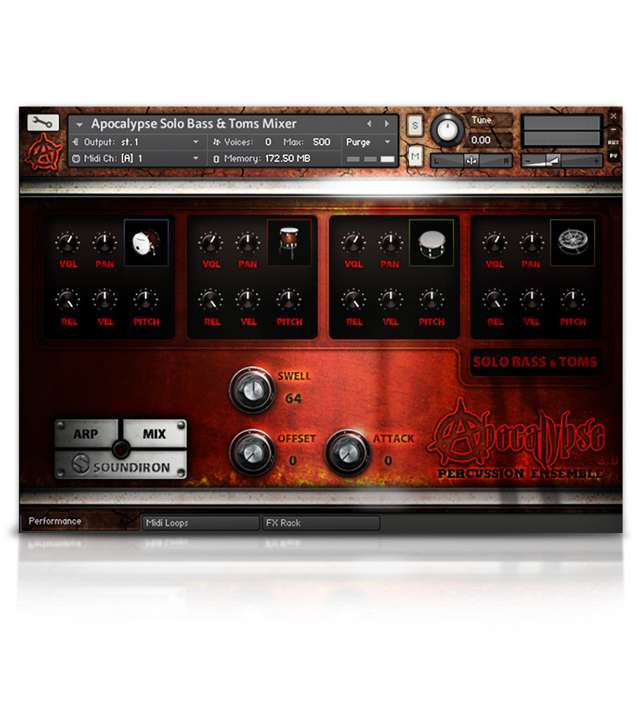Apocalypse Percussion Ensemble - APE Series - virtual instrument sample library for Kontakt by Soundiron