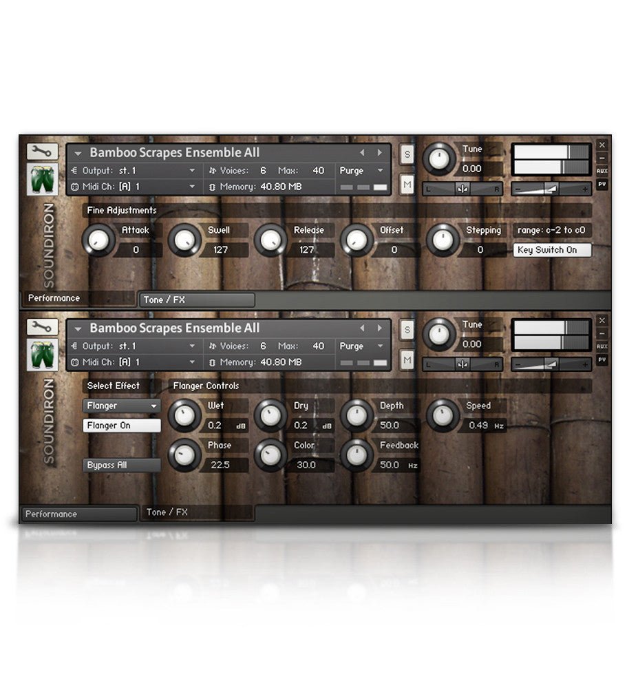 Bamboo Stick Ensemble - Percussion - virtual instrument sample library by Soundiron