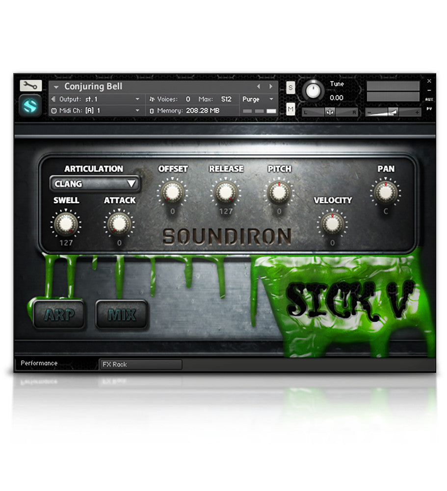 Sick 5 - Horror - virtual instrument sample library for Kontakt by Soundiron