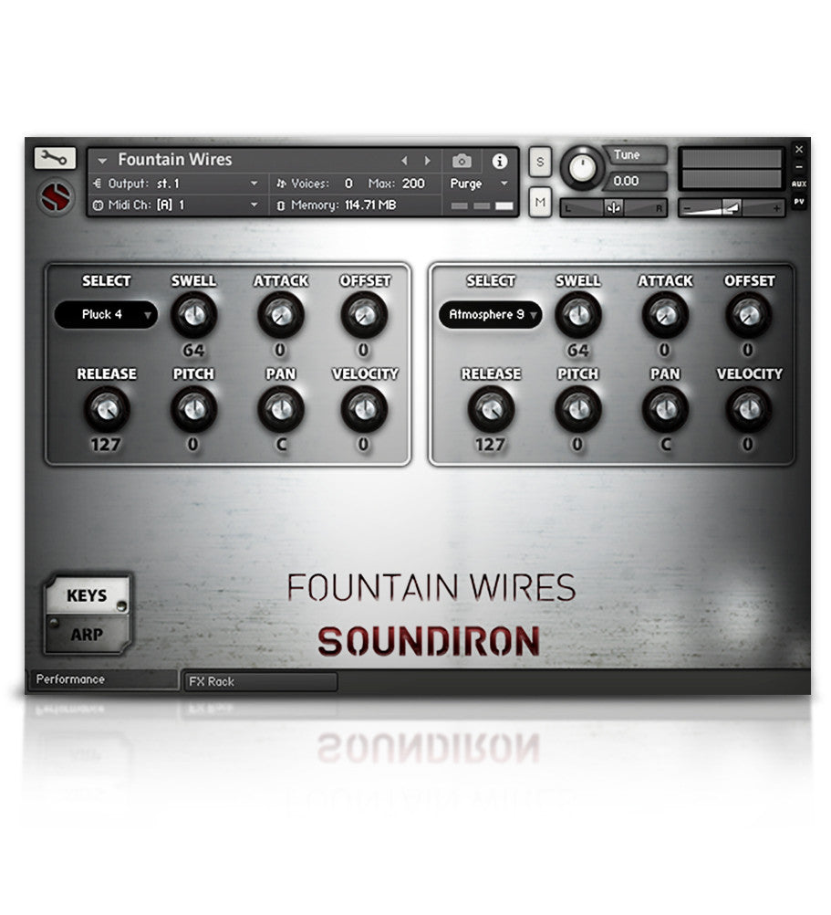 Fountain Wires - Experimental - virtual instrument sample library by Soundiron
