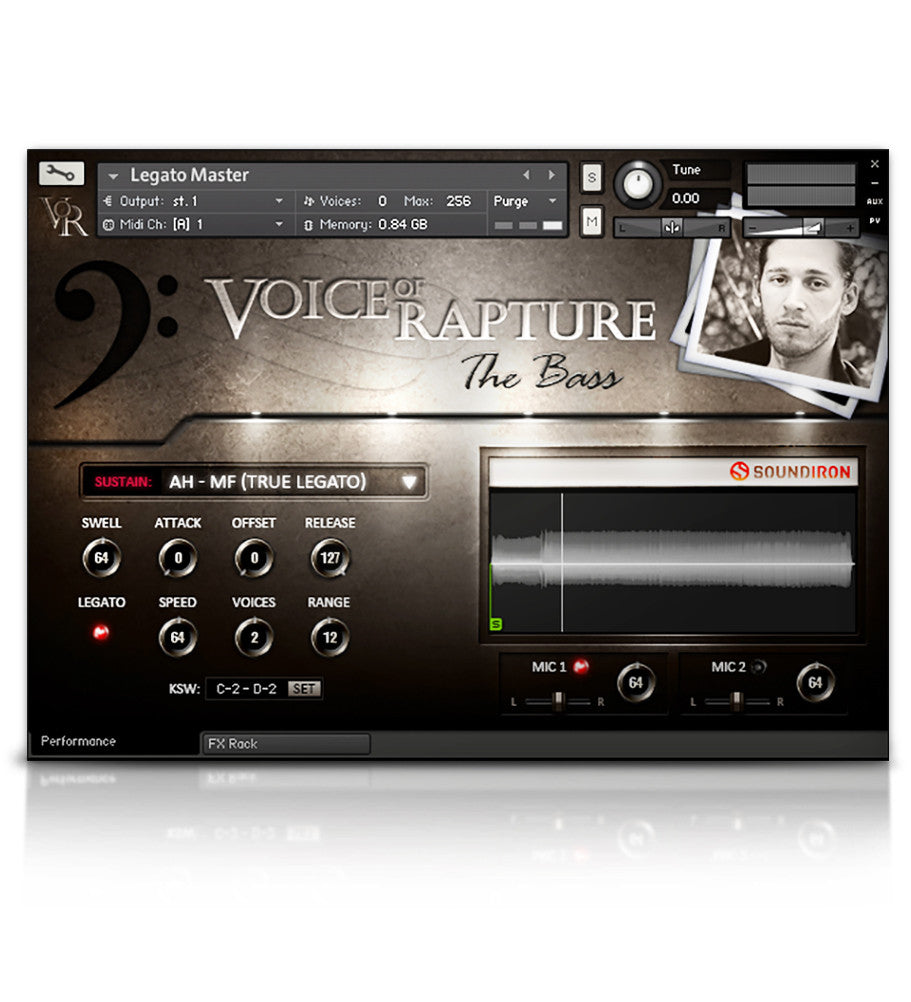 Voice of Rapture: The Bass - Solo Voice - virtual instrument sample library for Kontakt by Soundiron