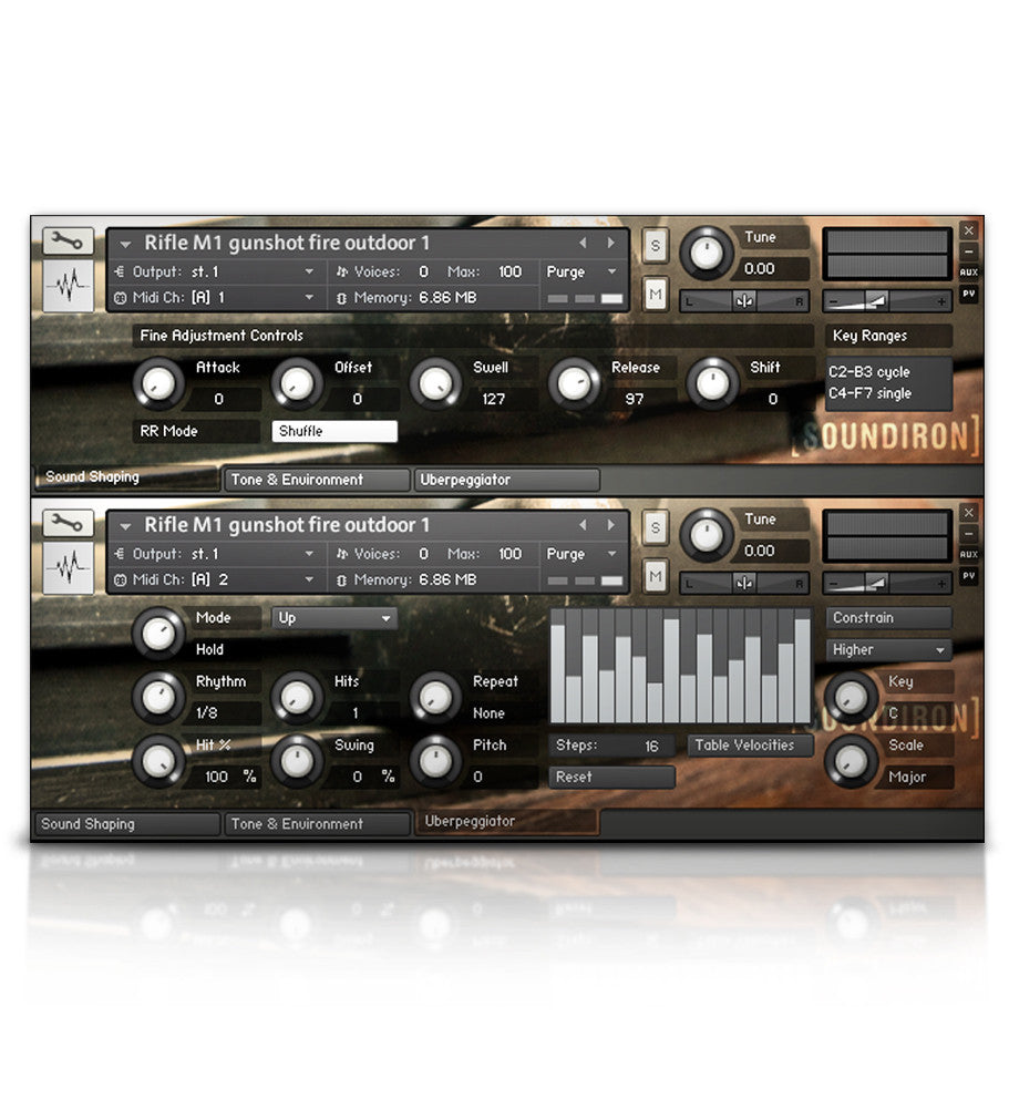 M1 Garand Rifle - Experimental - virtual instrument sample library for Kontakt by Soundiron