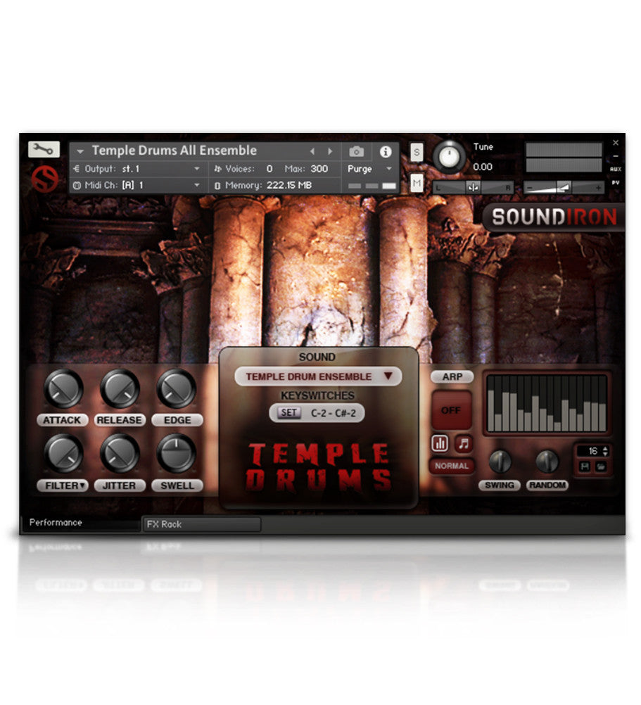 Temple Drums - Percussion - virtual instrument sample library for Kontakt by Soundiron