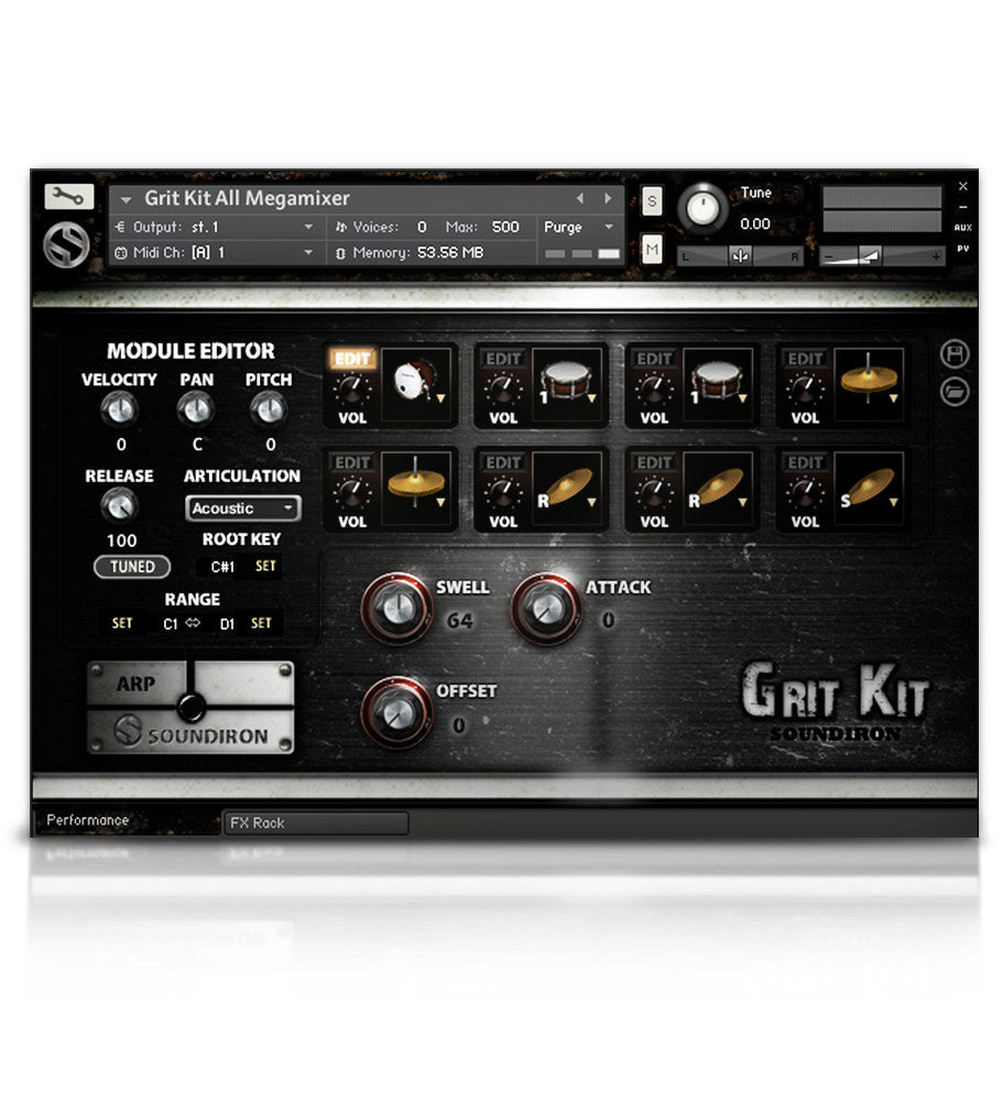 Grit Kit - Percussion - virtual instrument sample library by Soundiron