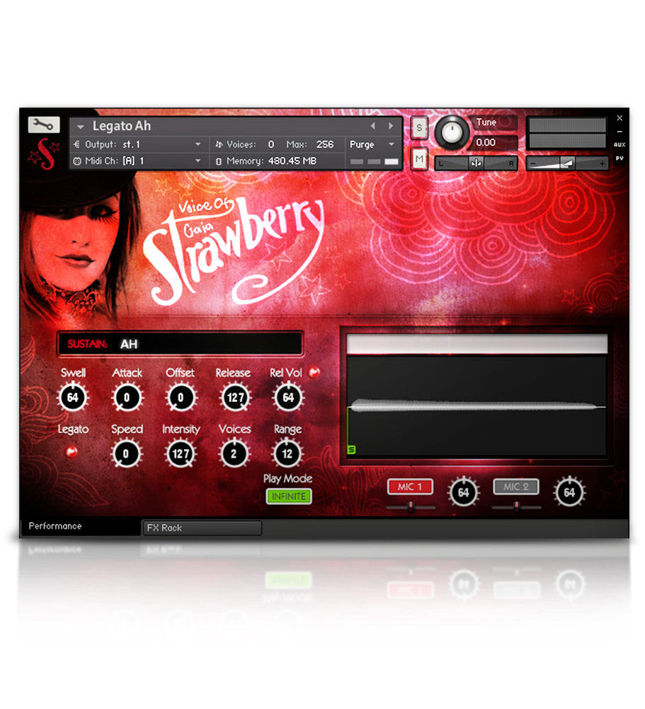 Voice of Gaia: Strawberry - Solo Voice - virtual instrument sample library for Kontakt by Soundiron