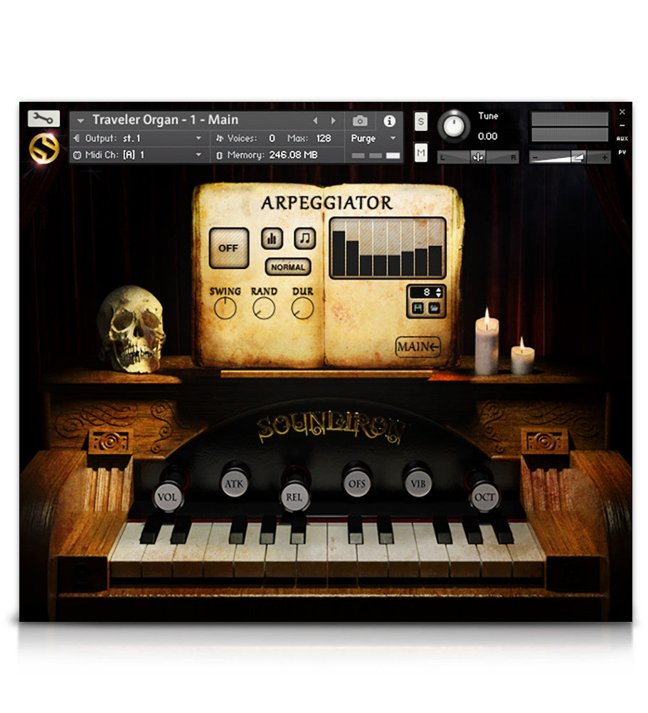 Traveler Organ - Pianos and Organs - virtual instrument sample library for Kontakt by Soundiron