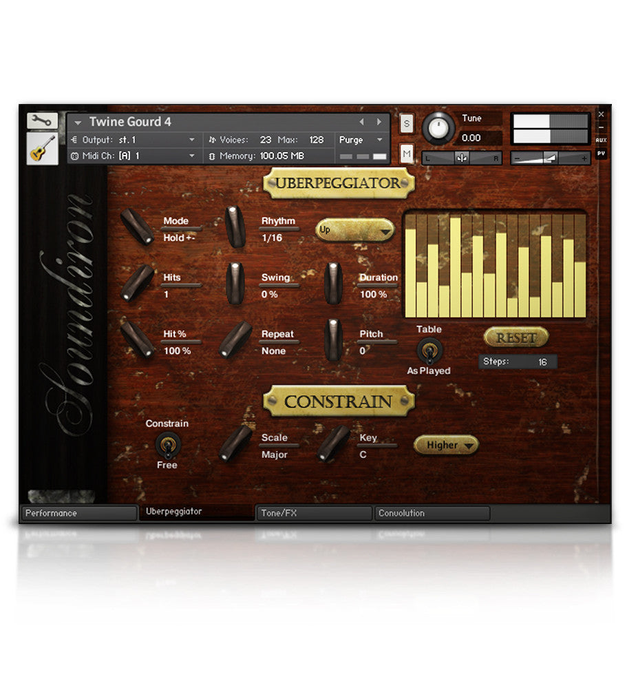 Twine Bass - Strings - virtual instrument sample library for Kontakt by Soundiron
