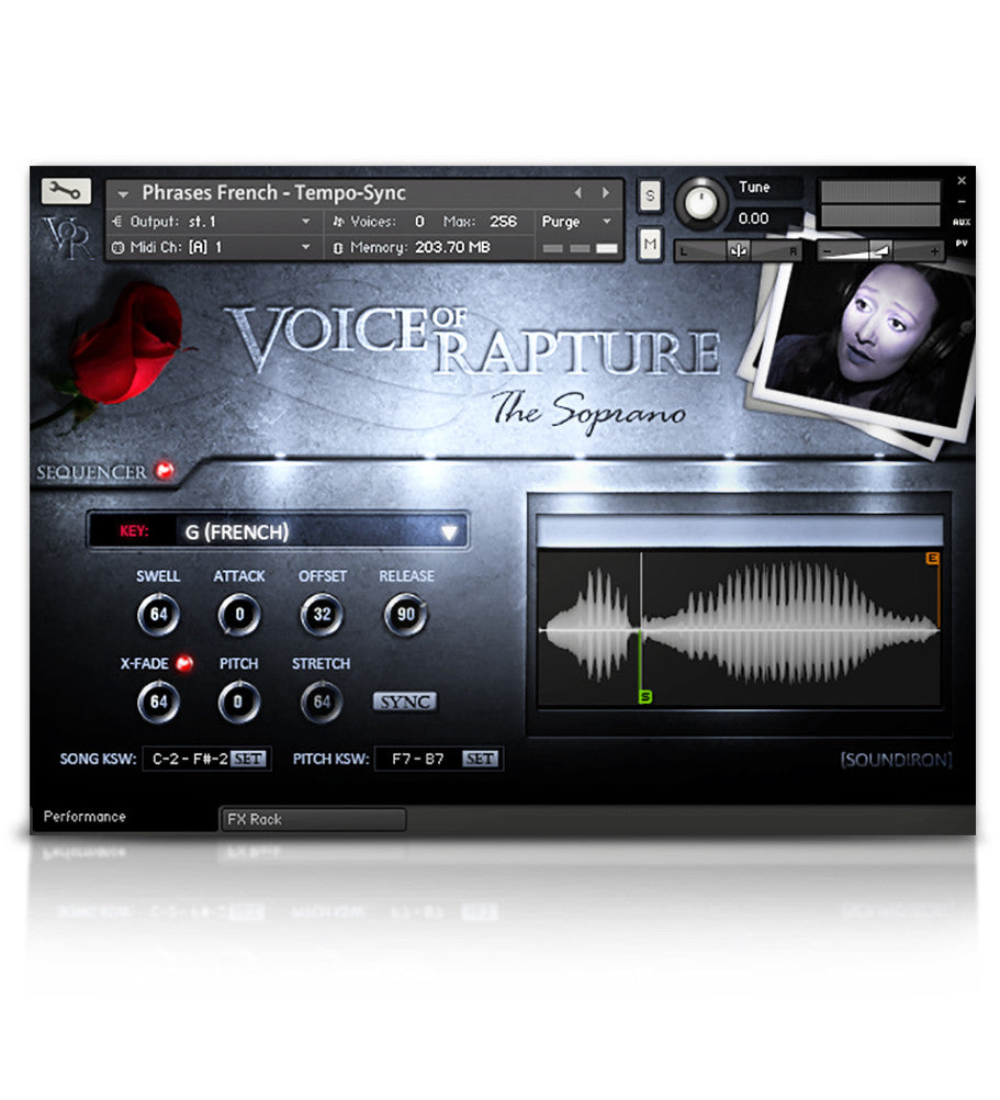 Voice of Rapture: The Soprano - Solo Voice - virtual instrument sample library for Kontakt by Soundiron
