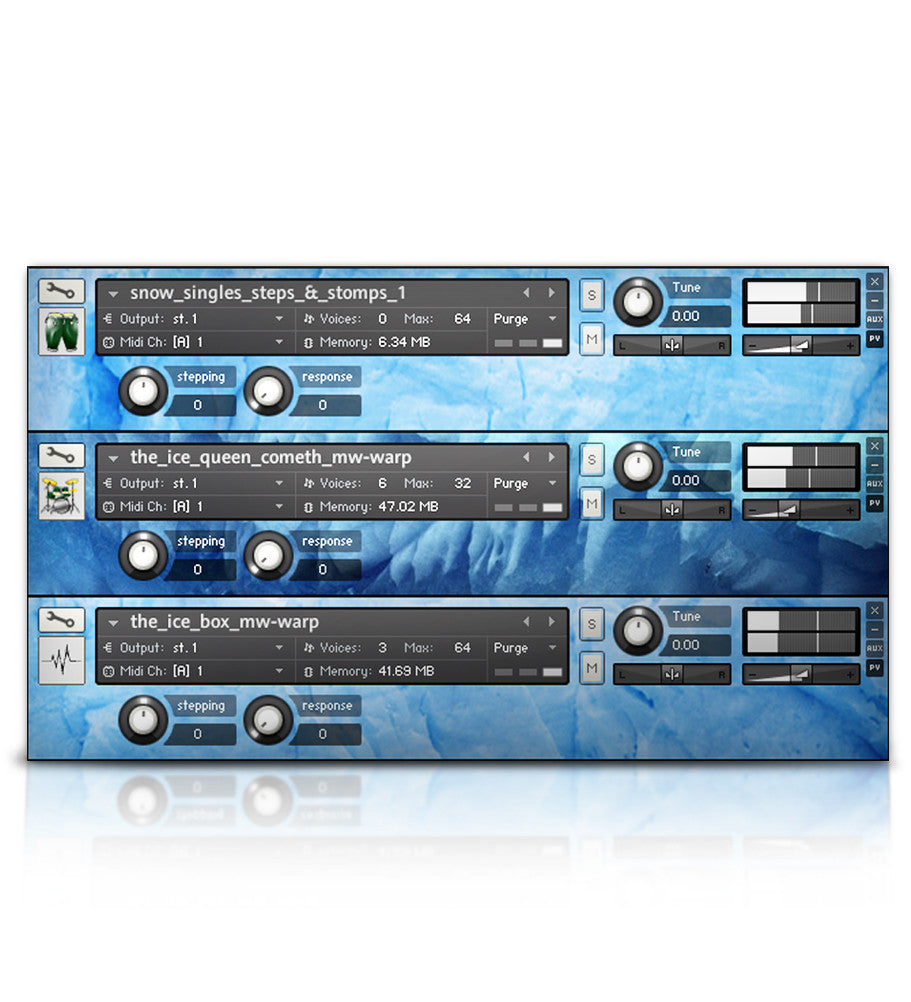 Snow Drums - Micropaks - virtual instrument sample library by Soundiron