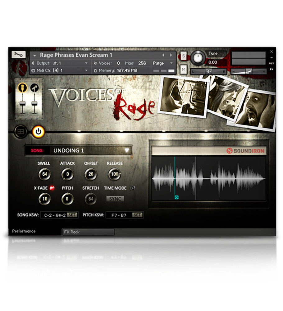 Voices Of Rage - Solo Voice - virtual instrument sample library for Kontakt by Soundiron