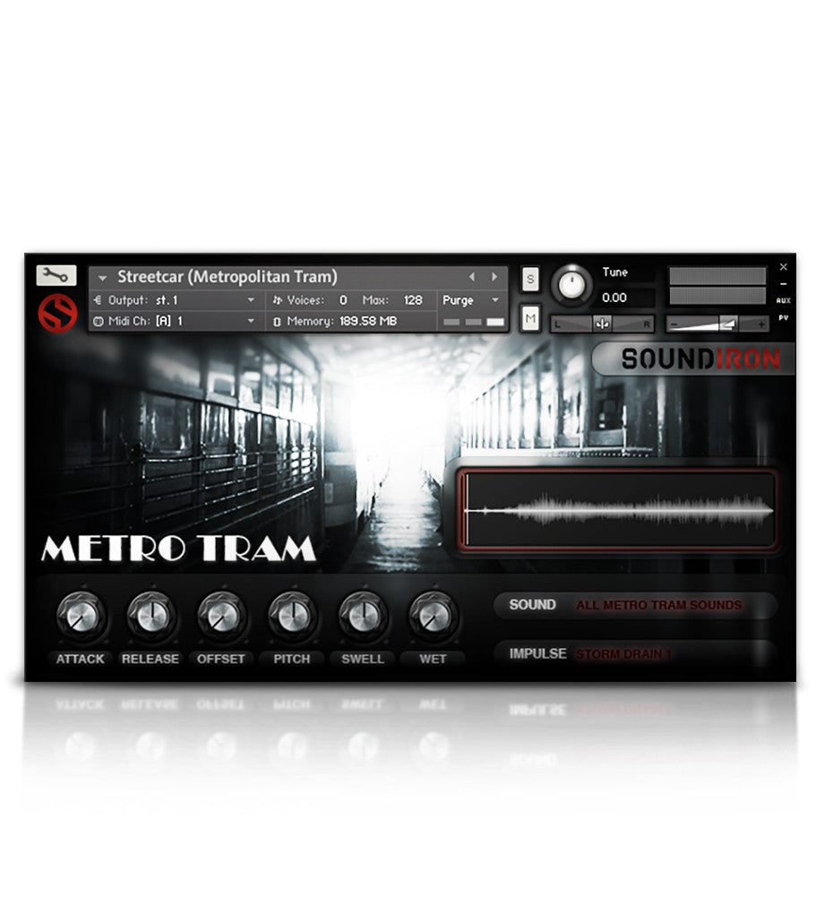 Subways & Streetcars - Sound Effects - virtual instrument sample library for Kontakt by Soundiron