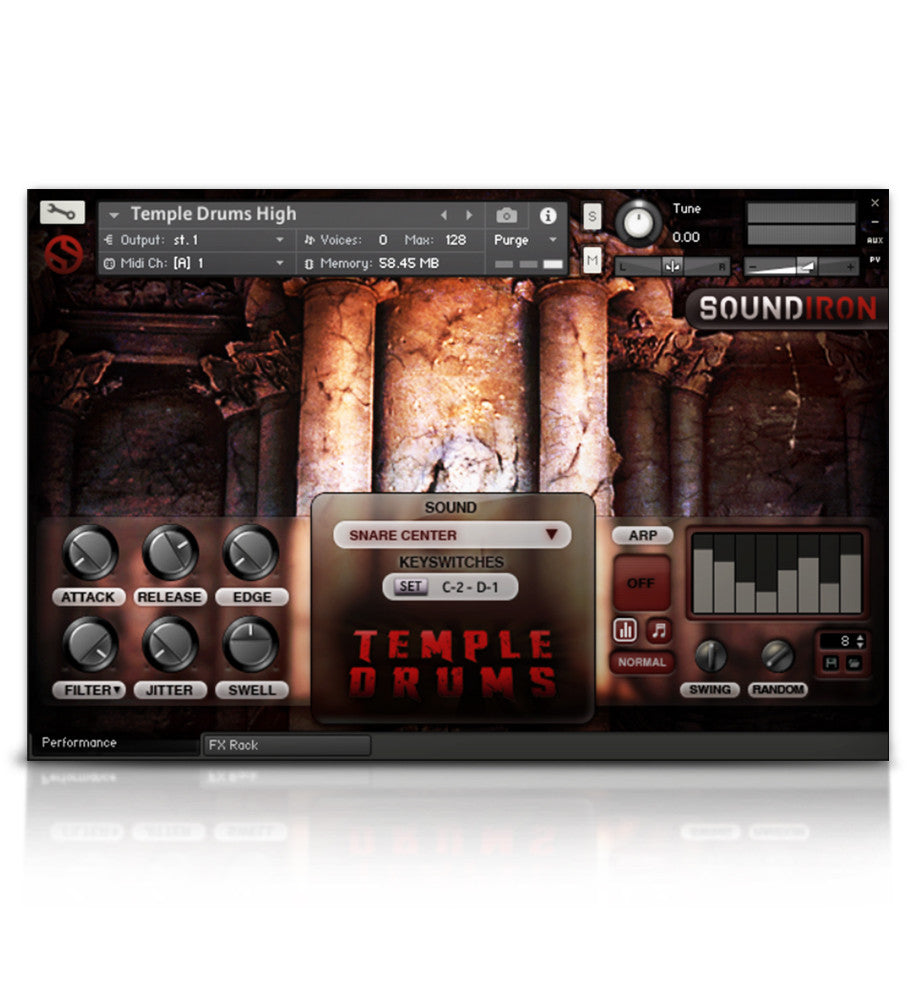 Temple Drums - Percussion - virtual instrument sample library by Soundiron