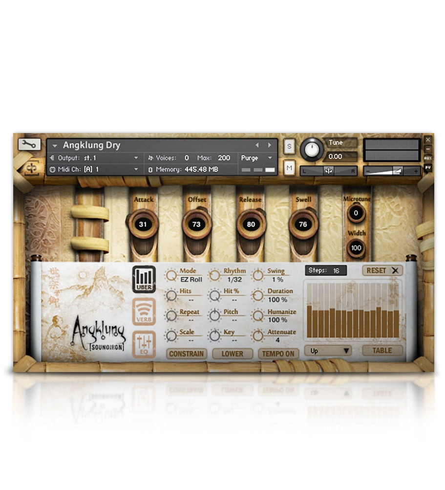 Soundiron Angklung - Asian tuned bamboo hand-rattle percussion mutli-sample library for Kontakt (open-format)