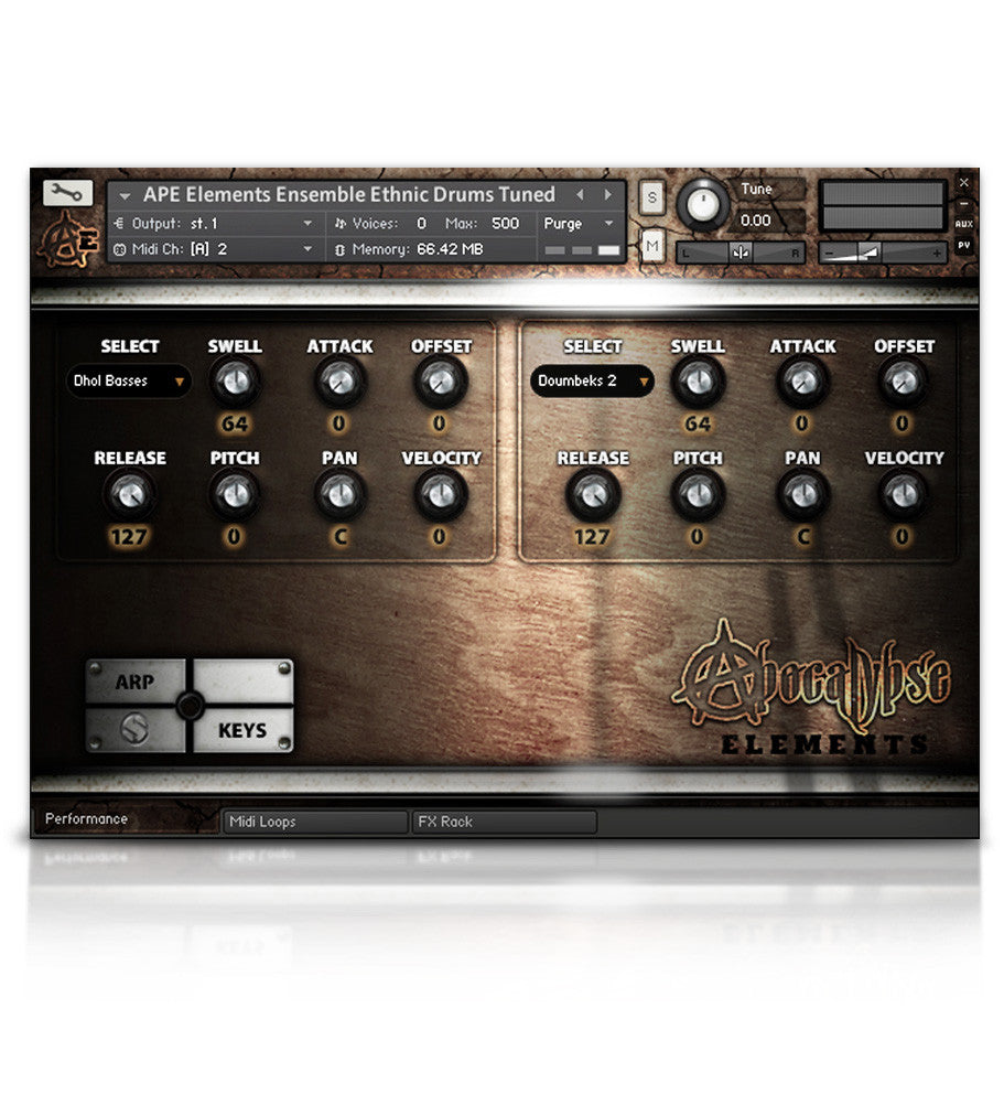 Apocalypse Percussion Elements - APE Series - virtual instrument sample library for Kontakt by Soundiron