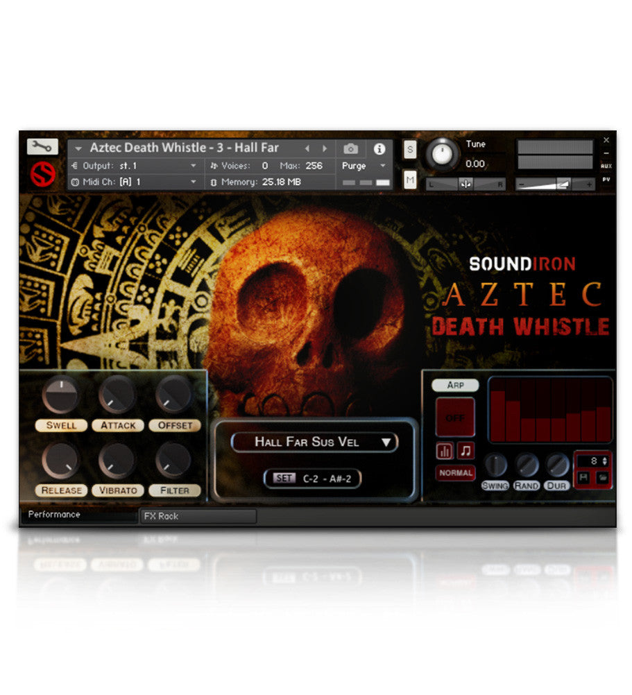 Aztec Death Whistle - Horror - virtual instrument sample library for Kontakt by Soundiron