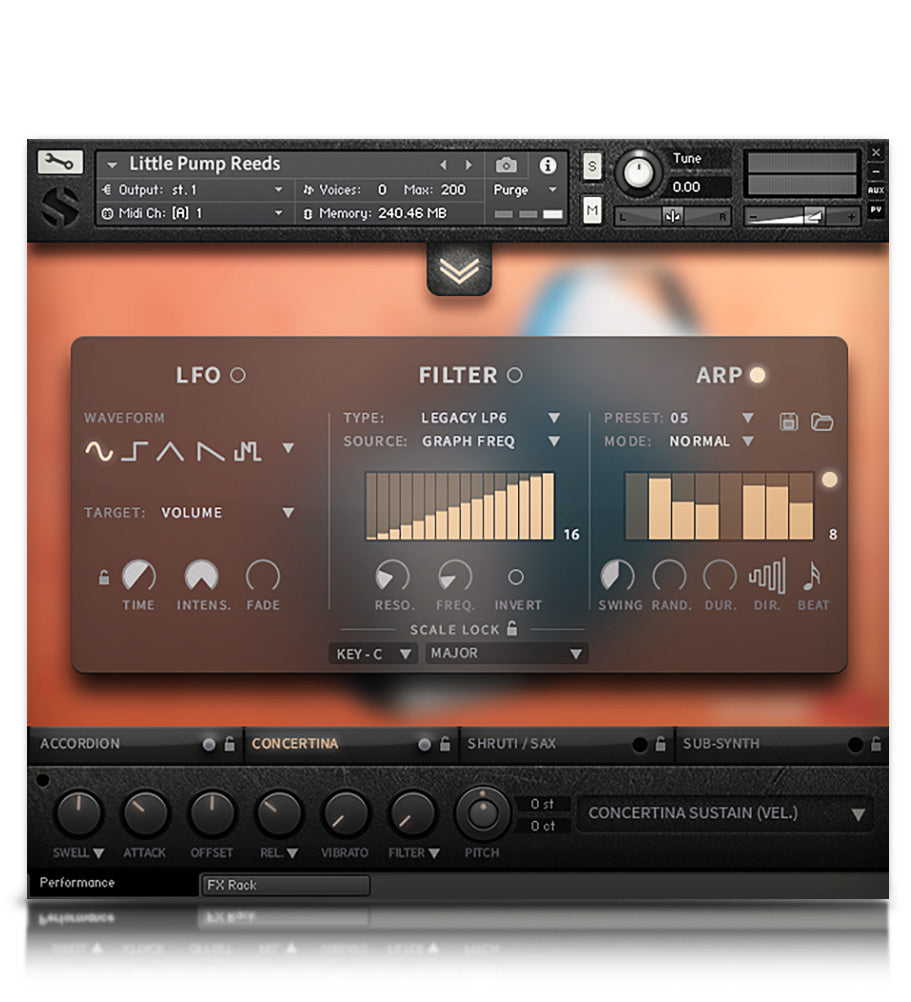 Little Pump Reeds - Wind - virtual instrument sample library for Kontakt by Soundiron