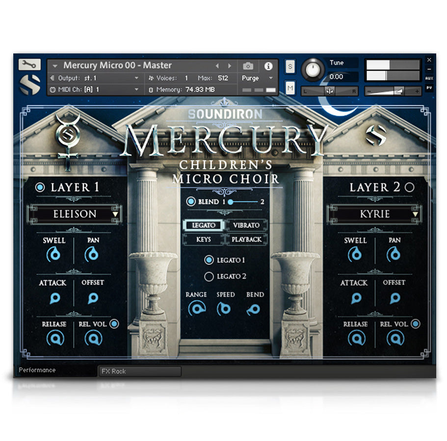 Mercury Boys' Choir Micro - Mercury Series - virtual instrument sample library for Kontakt by Soundiron