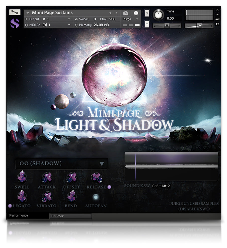 Mimi Page Light & Shadow - Solo Voice - virtual instrument sample library for Kontakt by Soundiron