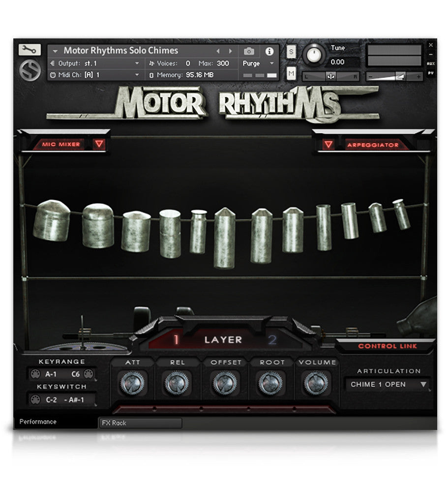 Motor Rhythms - Percussion - virtual instrument sample library for Kontakt by Soundiron