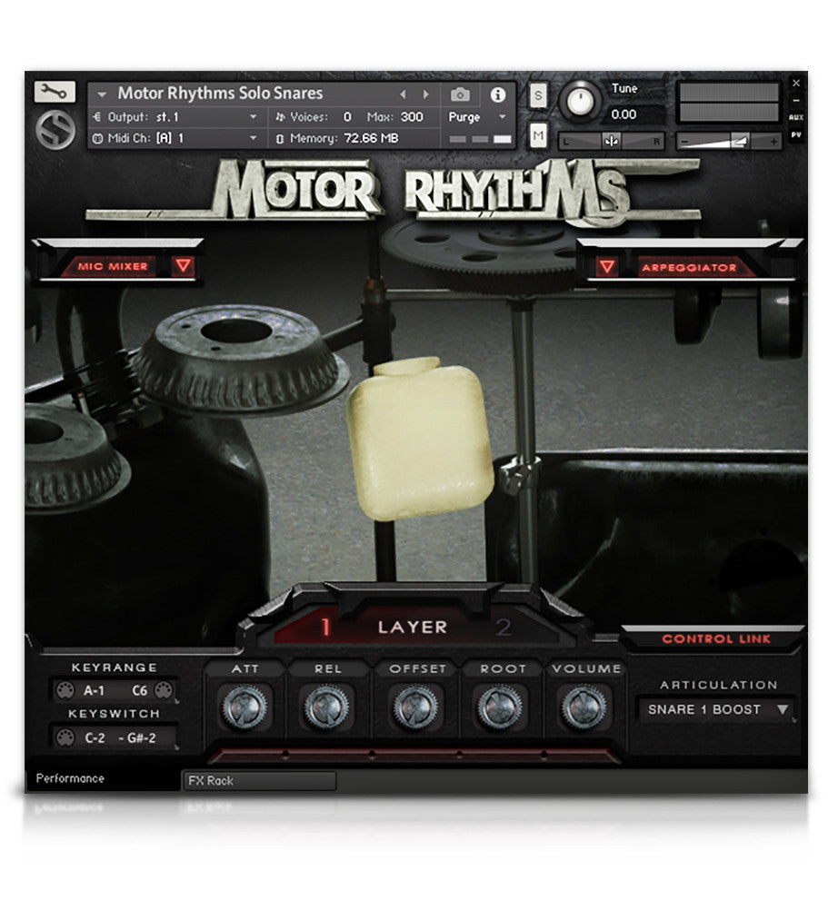 Motor Rhythms - Percussion - virtual instrument sample library by Soundiron