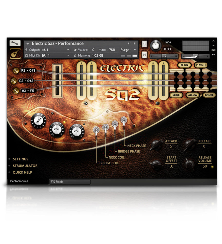 Electric Saz - Strings - virtual instrument sample library for Kontakt by Soundiron