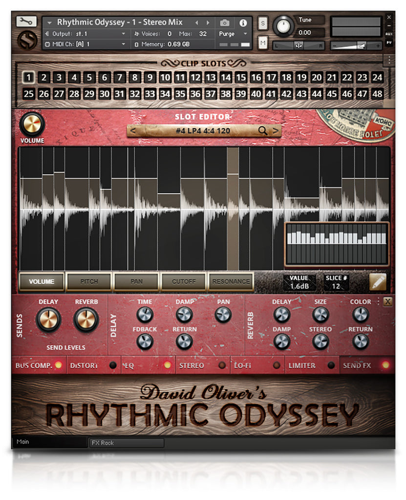 David Oliver's Rhythmic Odyssey - Percussion - virtual instrument sample library for Kontakt by Soundiron