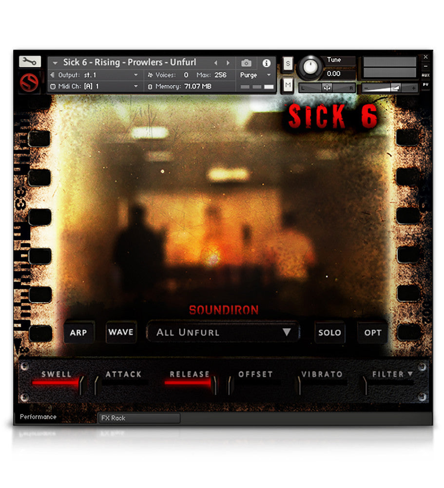 Sick 6 - Horror - virtual instrument sample library for Kontakt by Soundiron