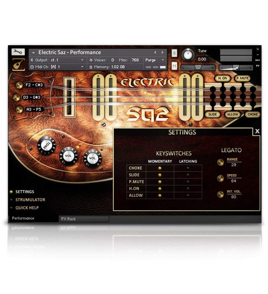 Electric Saz - Strings - virtual instrument sample library by Soundiron