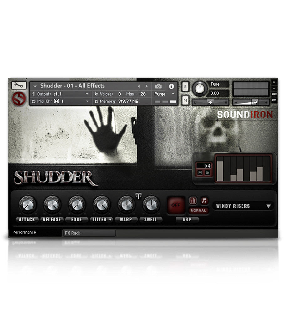 Shudder - Juno VHS Series - virtual instrument sample library for Kontakt by Soundiron