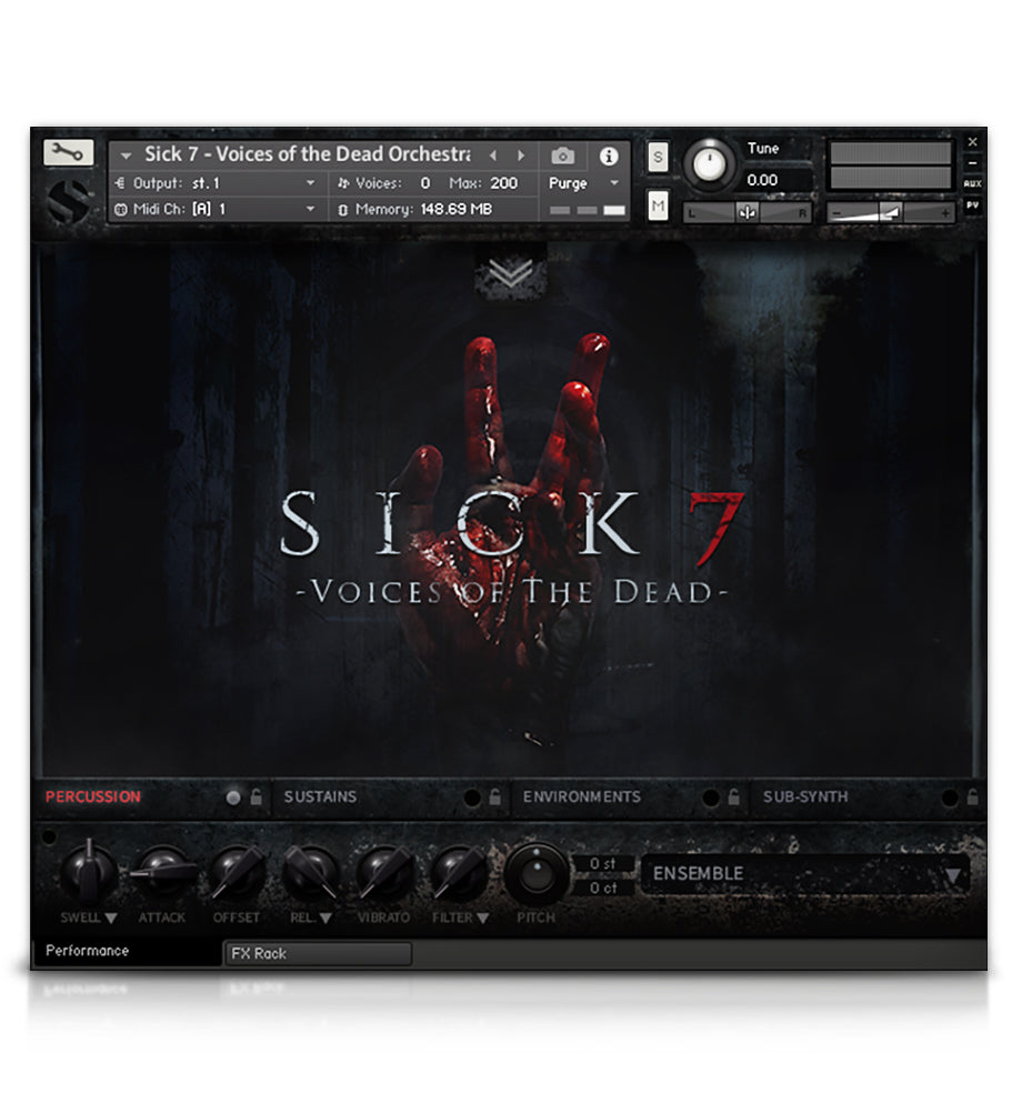 Sick 7 - Horror - virtual instrument sample library for Kontakt by Soundiron