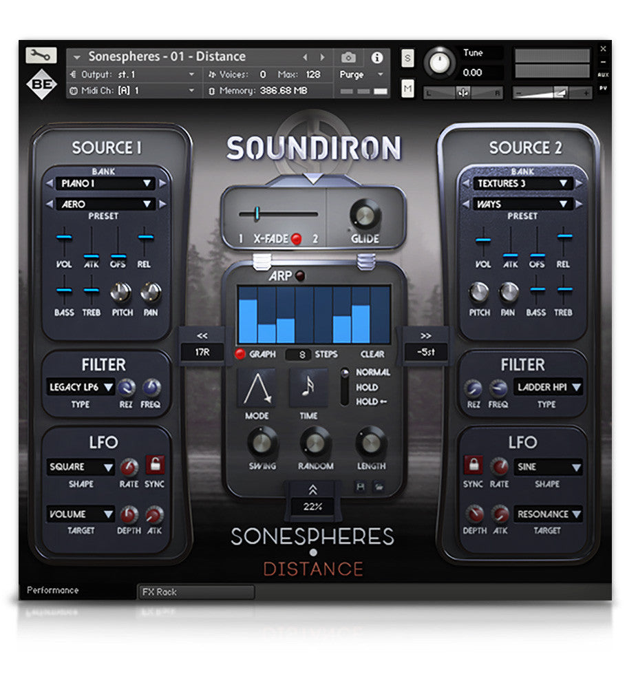 Sonespheres 1 - Distance - Atmospheres - virtual instrument sample library for Kontakt by Soundiron