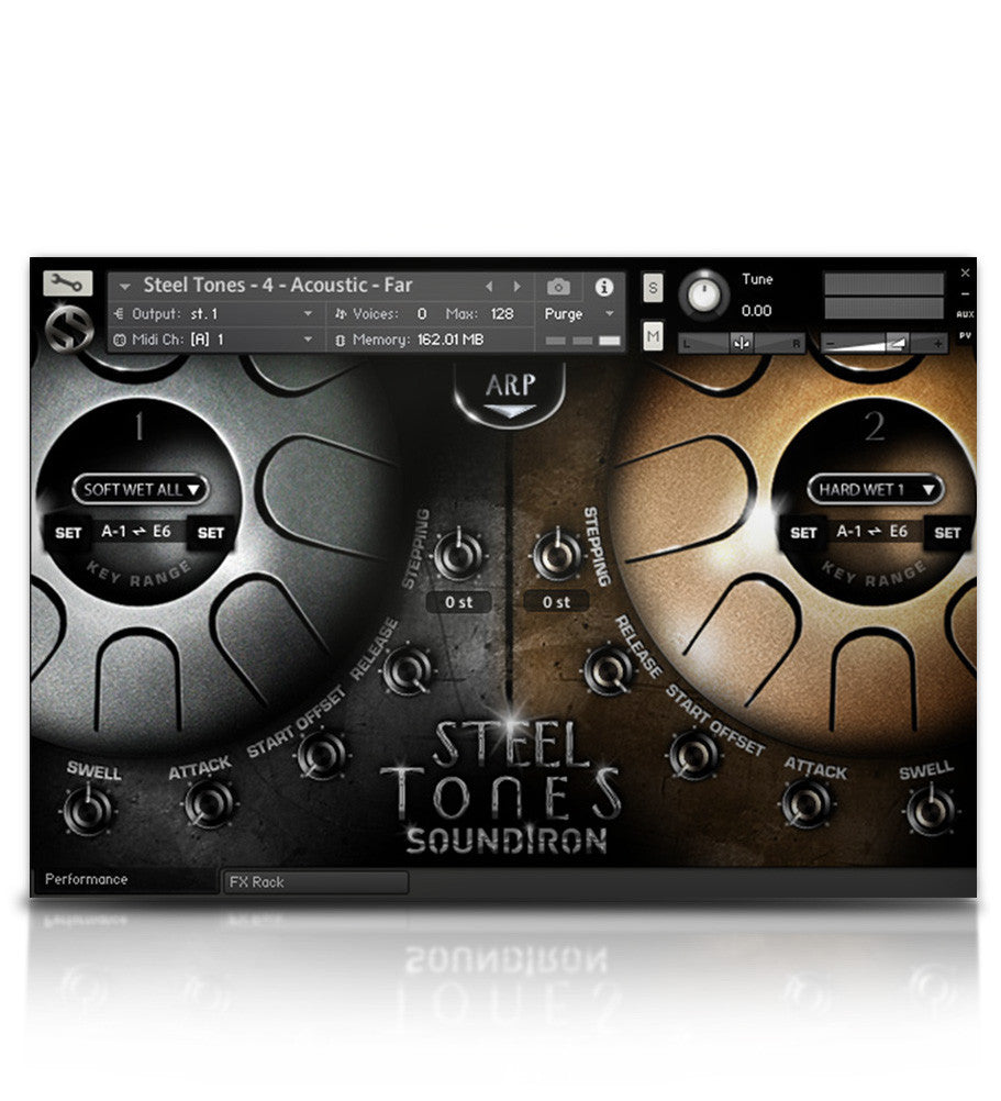 Steel Tones - Tuned Percussion - virtual instrument sample library for Kontakt by Soundiron