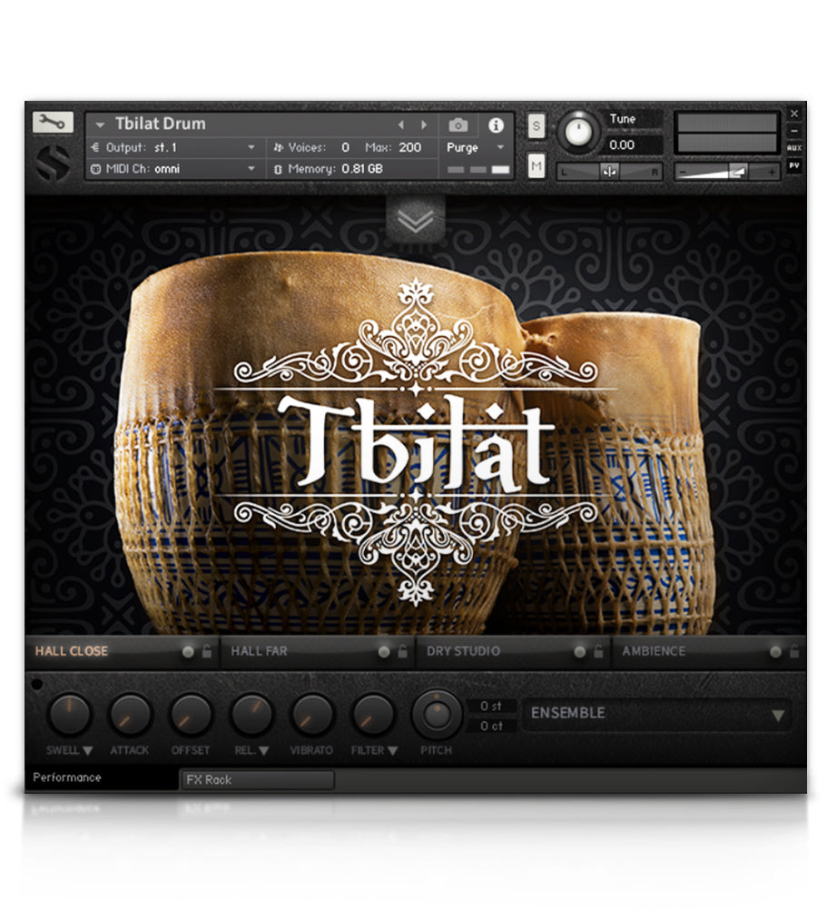 Tbilat Drum - Percussion - virtual instrument sample library for Kontakt by Soundiron