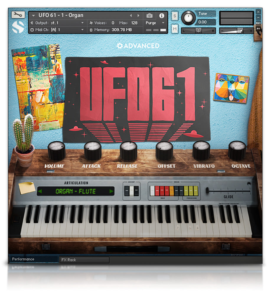 UFO 61 - Pianos and Organs - virtual instrument sample library for Kontakt by Soundiron