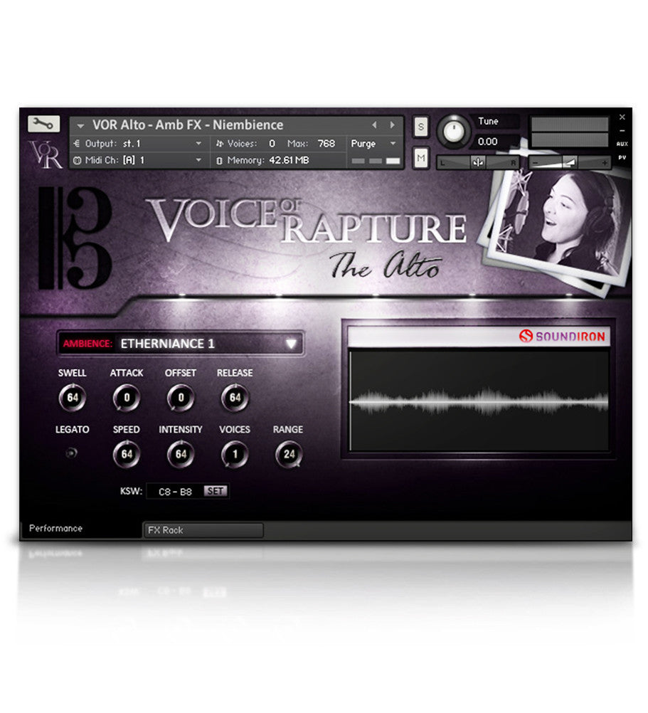 Voice of Rapture: The Alto - Solo Voice - virtual instrument sample library for Kontakt by Soundiron