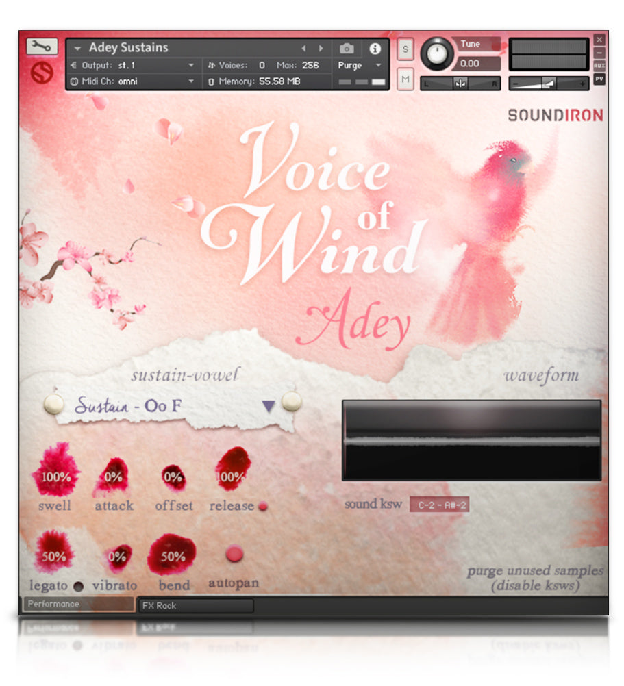 Voice of Wind: Adey - Solo Voice - virtual instrument sample library for Kontakt by Soundiron