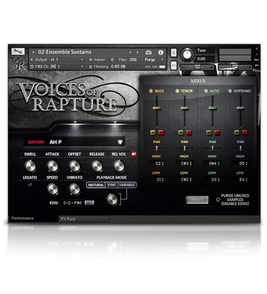 Voices Of Rapture - Solo Voice - virtual instrument sample library for Kontakt by Soundiron