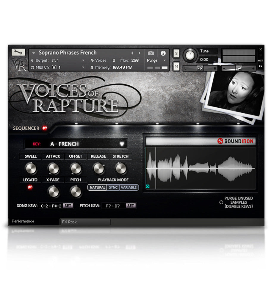 Voices Of Rapture - Solo Voice - virtual instrument sample library by Soundiron