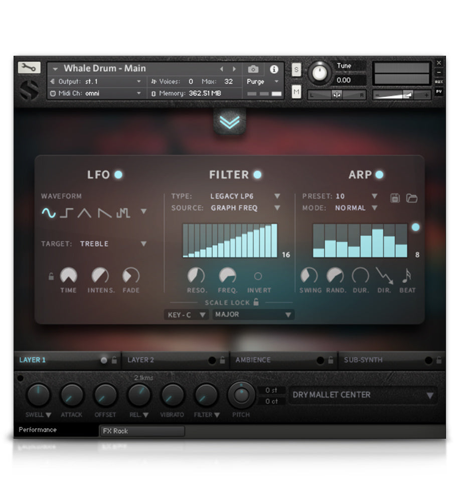 Whale Drum - Tuned Percussion - virtual instrument sample library for Kontakt by Soundiron