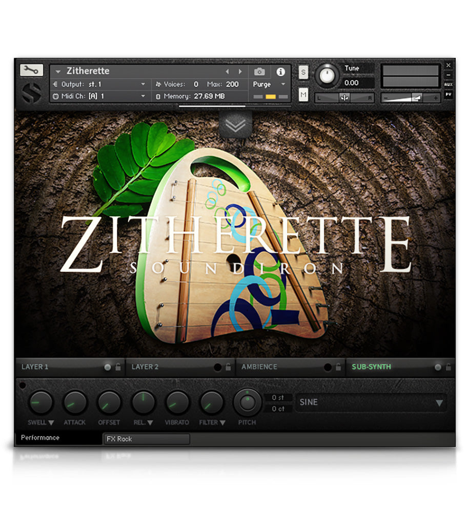 Zitherette - Strings - virtual instrument sample library for Kontakt by Soundiron