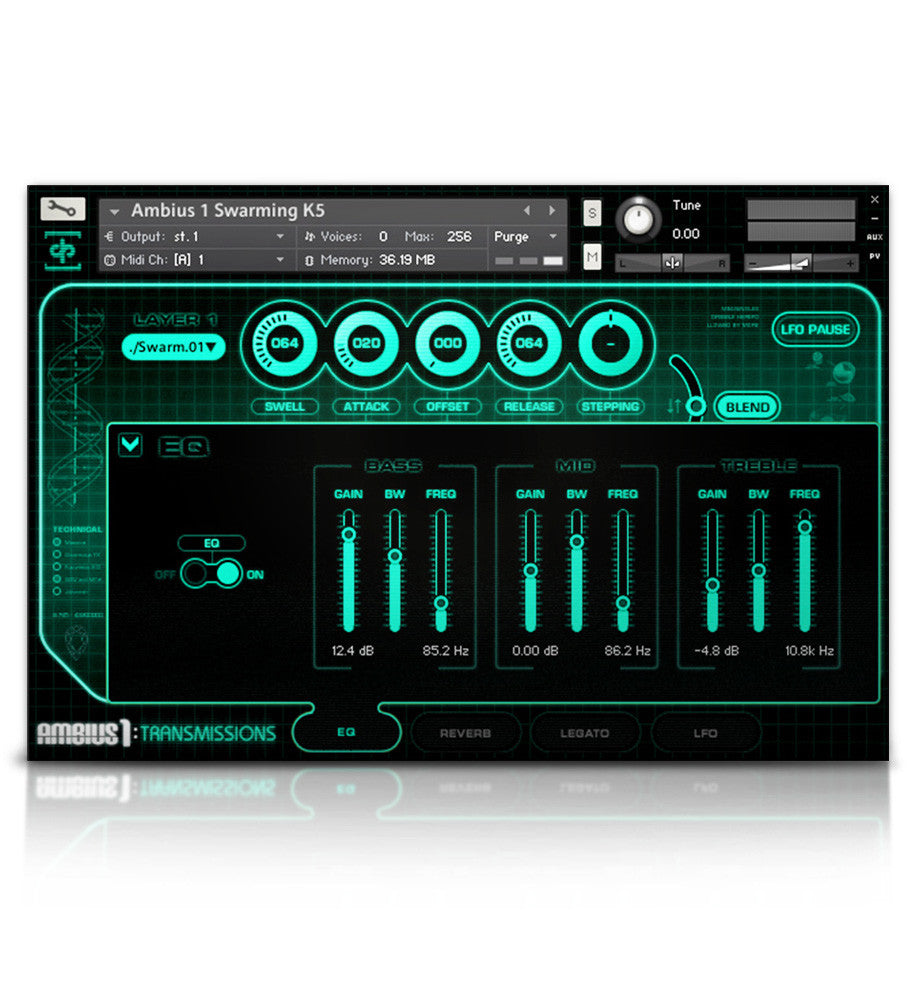 Ambius 1: Transmissions - Atmospheres - virtual instrument sample library for Kontakt by Soundiron