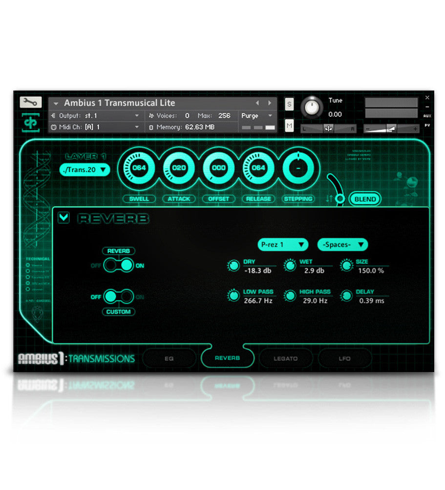 Ambius 1: Transmissions - Atmospheres - virtual instrument sample library by Soundiron