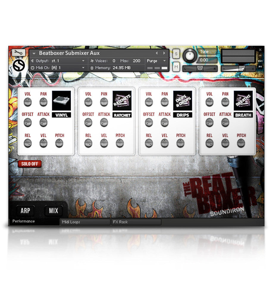 The Beat Boxer - Percussion - virtual instrument sample library for Kontakt by Soundiron