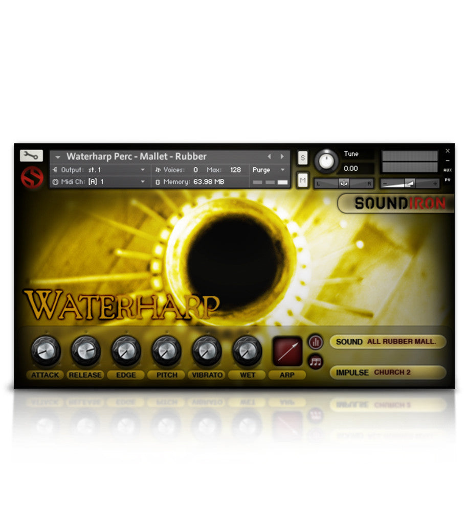Waterharp - Tuned Percussion - virtual instrument sample library by Soundiron